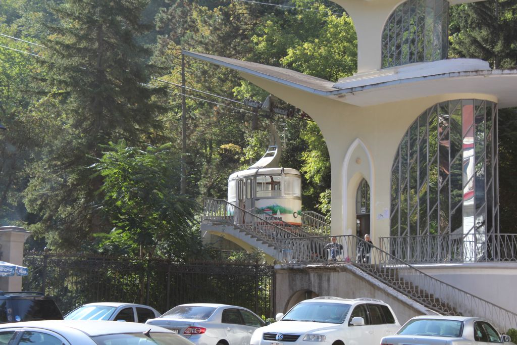 Cable car station in Borjomi