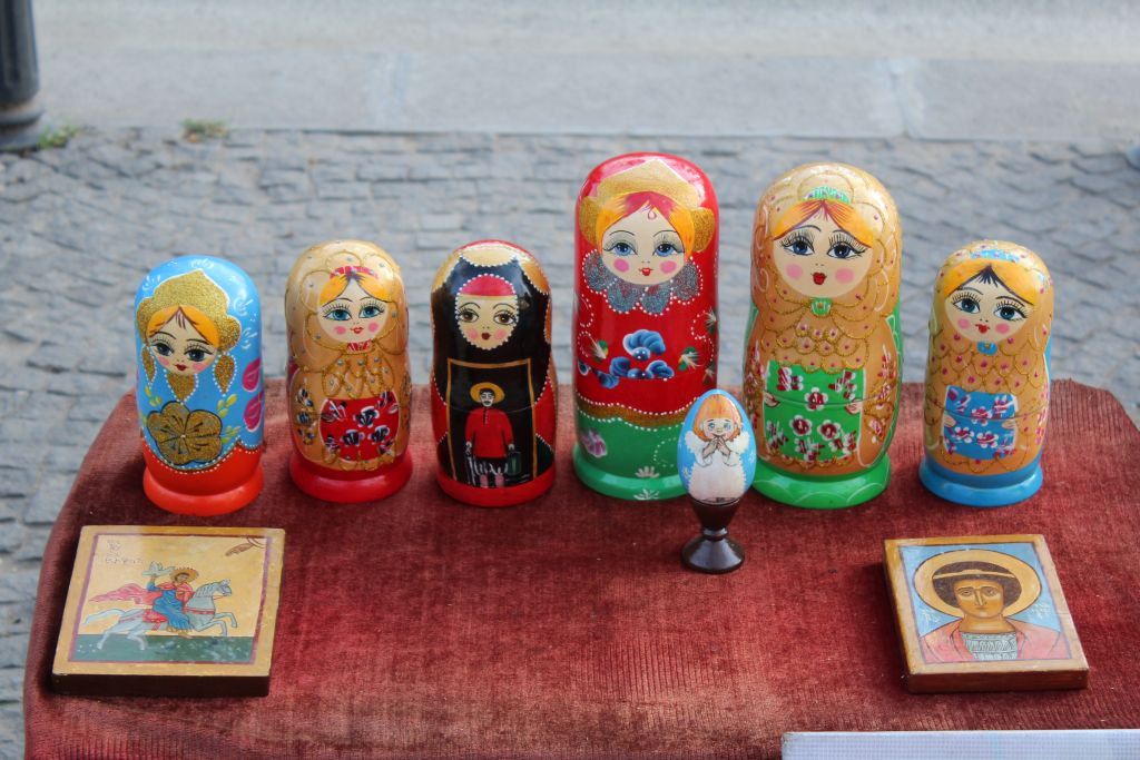 Matryoshka dolls at Tbilisi Flea market