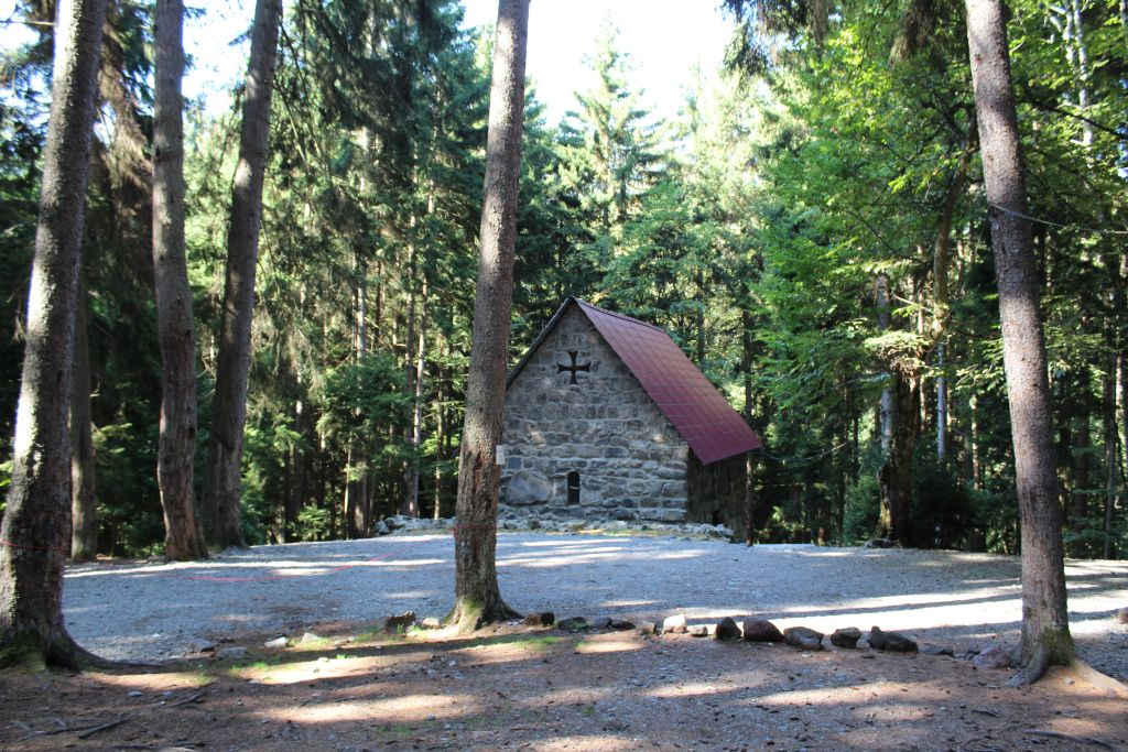 Church building at site