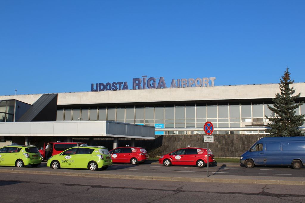 Parking lot at Riga airport