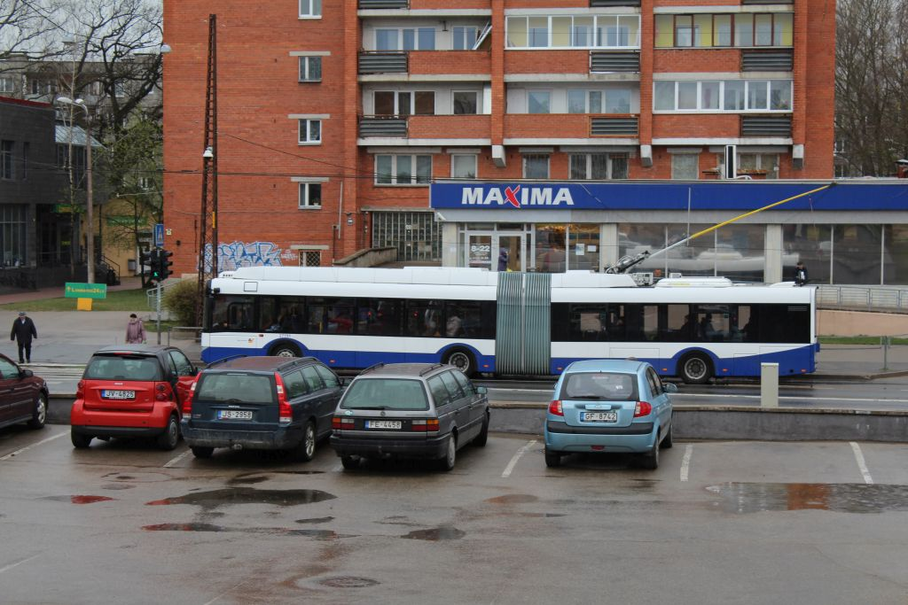 Trolleybus in Iļģuciems