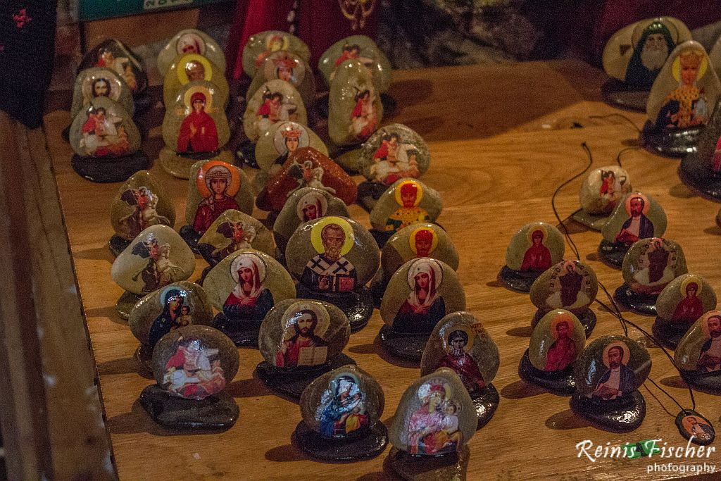 Church souvenirs for sale at Gremi monastery complex