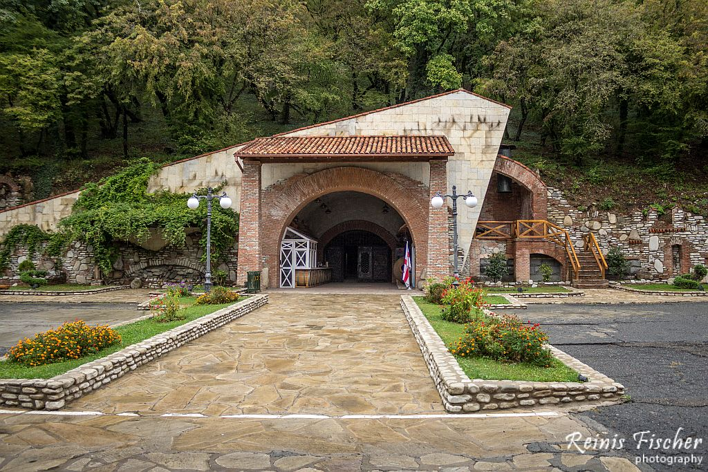 Wine Tunnel at Winery Khareba near Kvareli town in Georgia