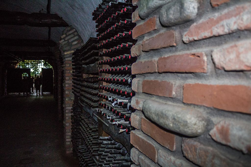 Wine tunnel at Khareba winery