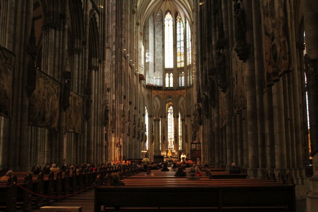 Inside view of Cologne's Cathedral