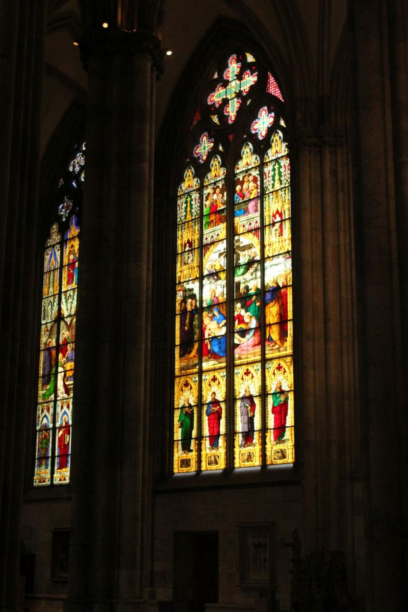 Stained glass at Cologne's Cathedral