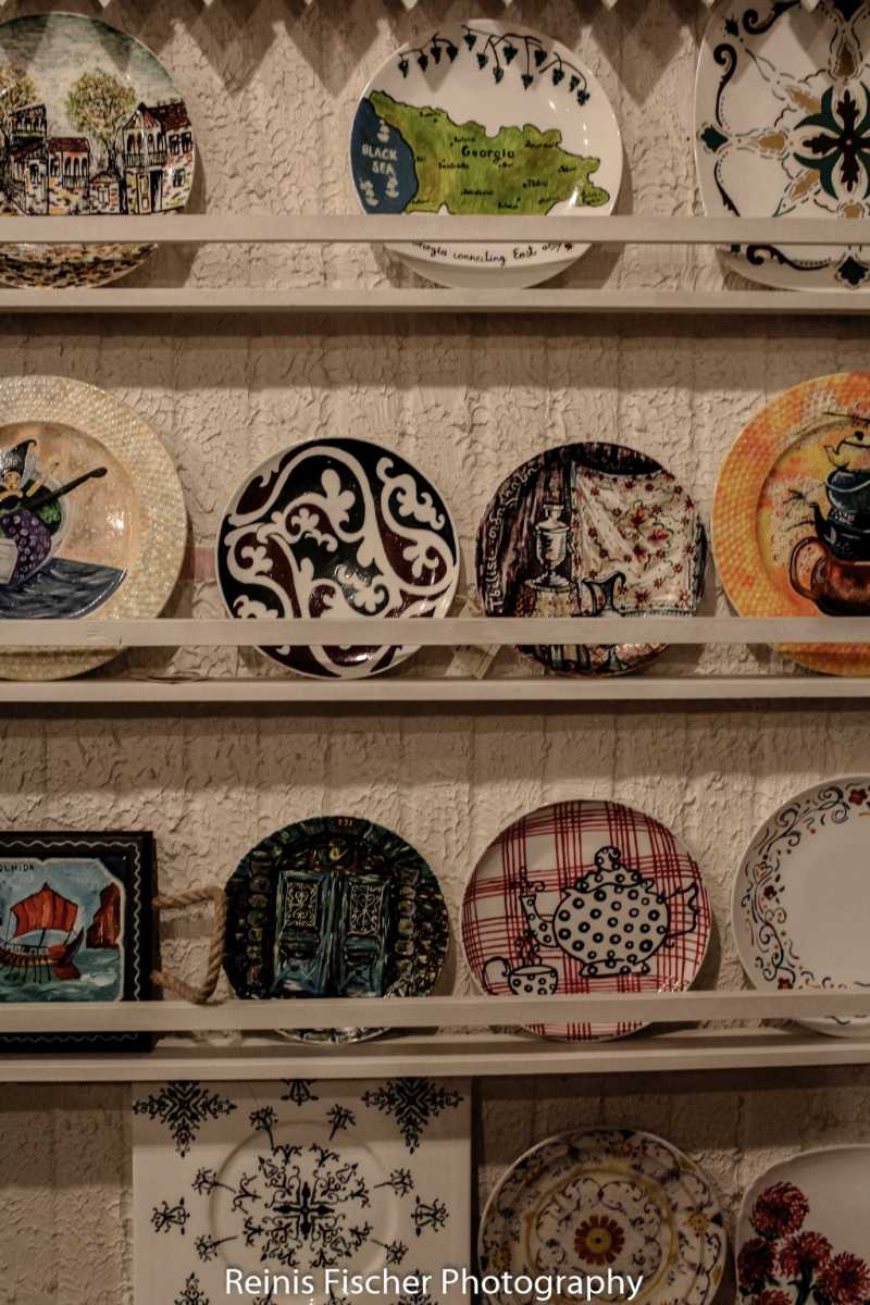 Hand painted ceramics at Estia shop