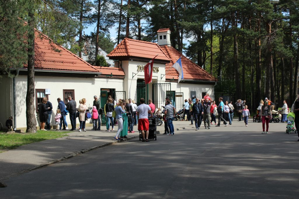 Entrance gates at Riga zoo