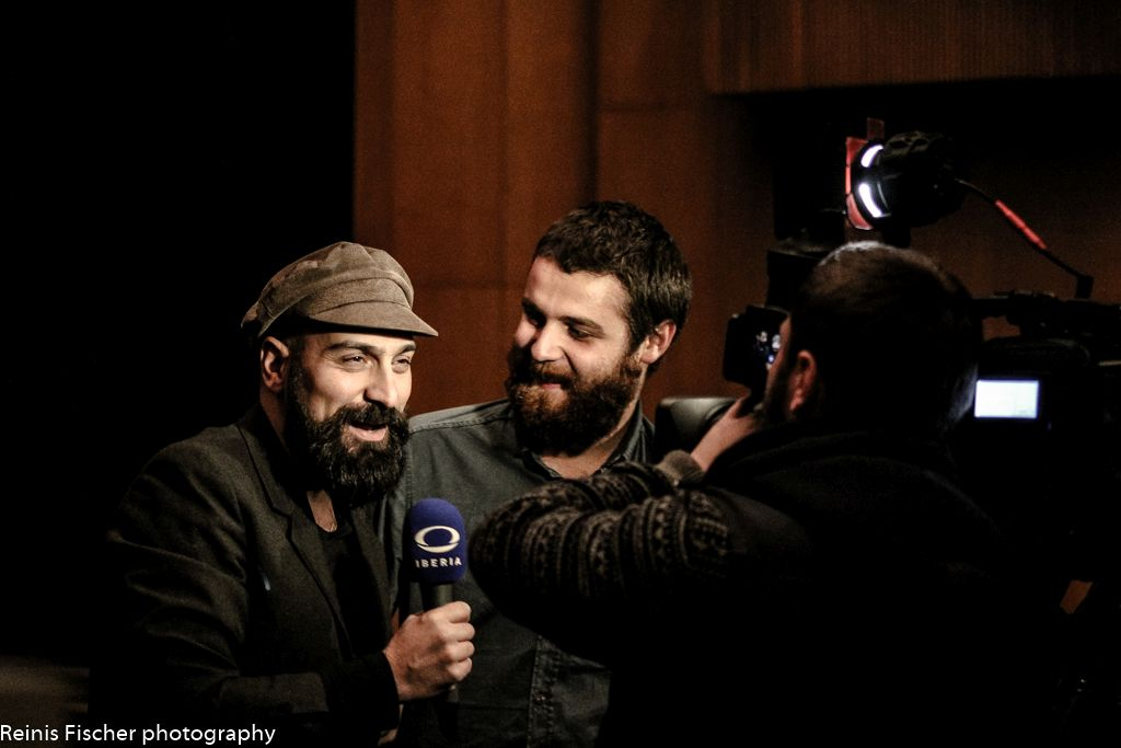 Local Georgian Tv Iberia taking interviews before show has started
