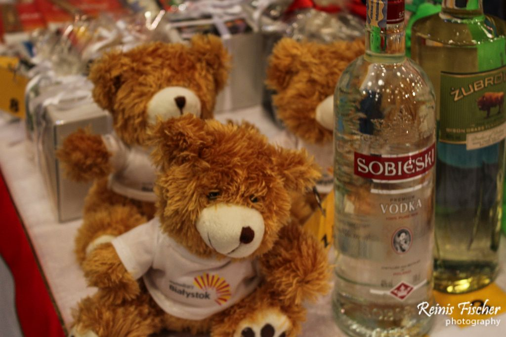 Teddy bears and Vodka from Polish embassy in Tbilisi