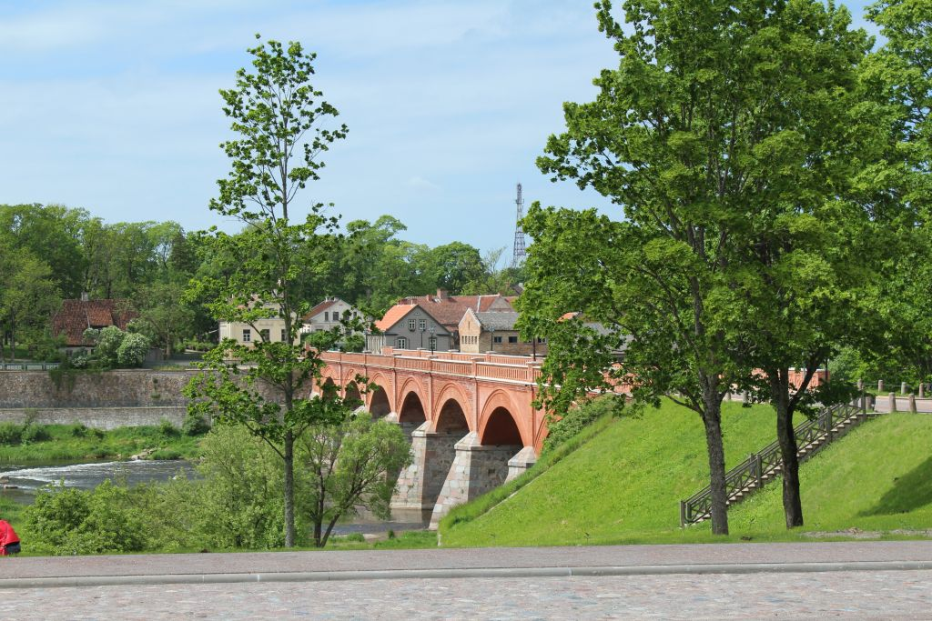 Old Brick bridge near Cafe Pilādzītis