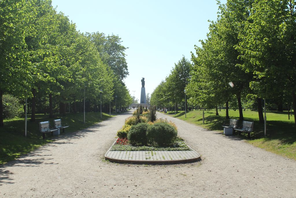 View to the monument form park