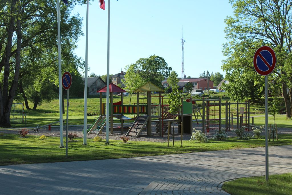 Playground at Skrunda manor