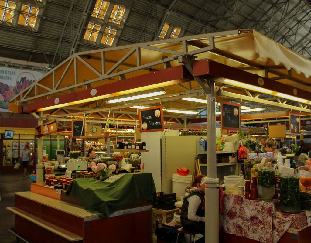 Inside interior of one of the pavilions at Riga Central market