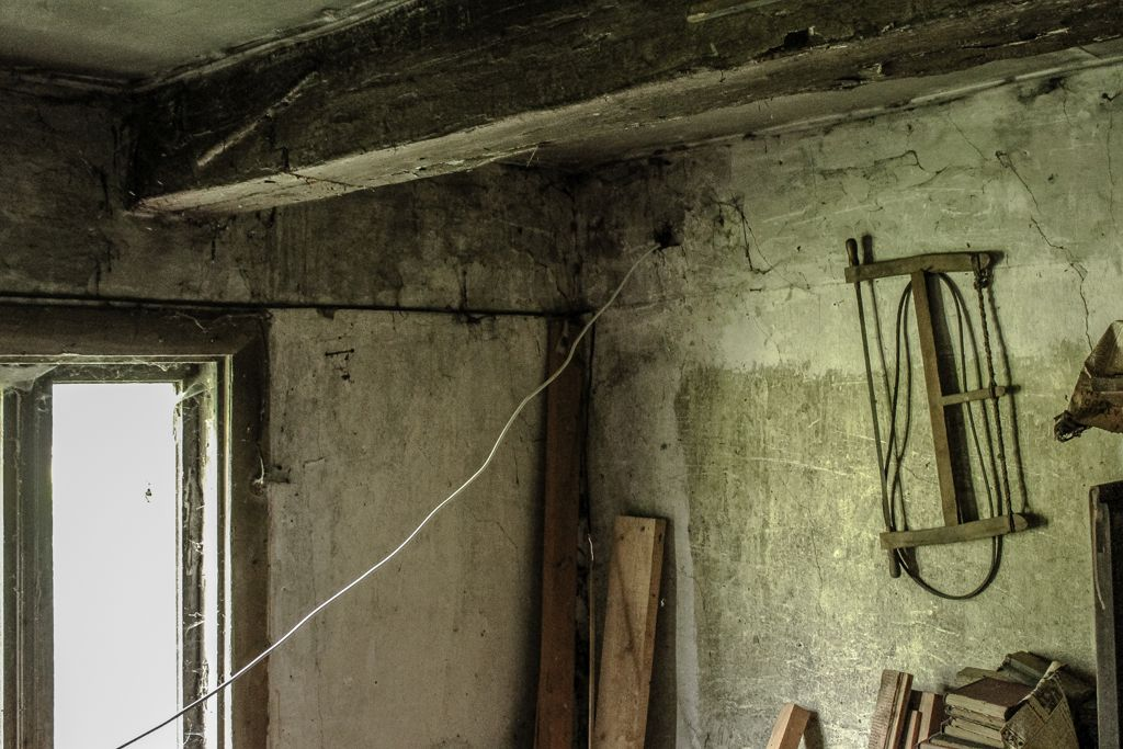 The new wires goes through the walls