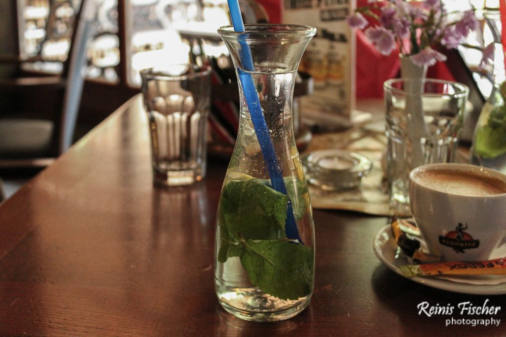 Refreshing water with mint drink