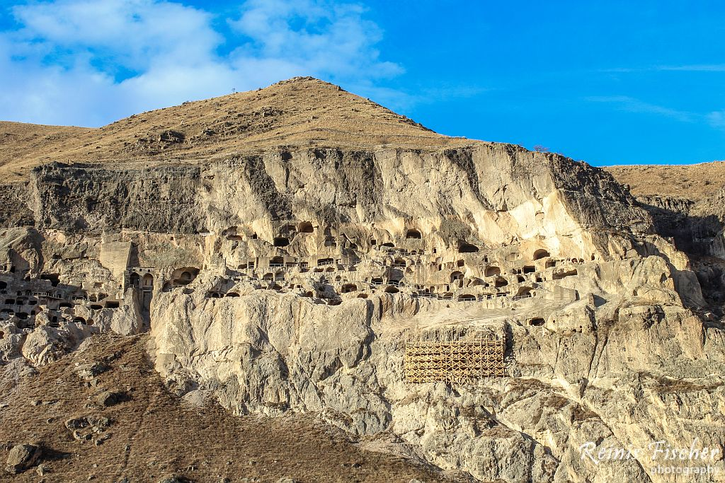 Vardzia cave town from a distance