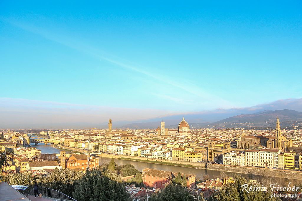 Views toward Florence from Michelangelo Square in HDR