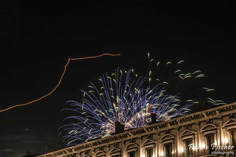 Fireworks photography from St Mark sqaure