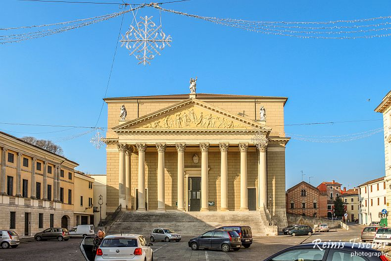 Town square in Italy