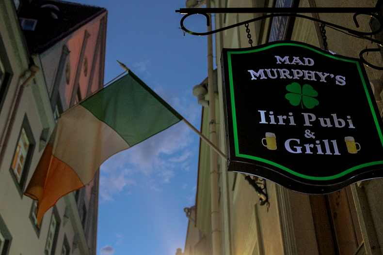 Mad Murphy's Irish pub in Tallinn