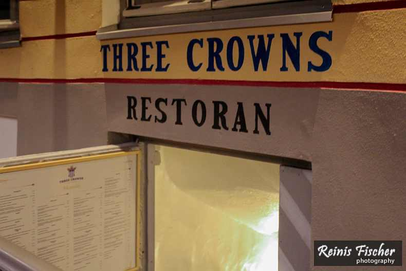 Three Crowns Restaurant in Tallinn
