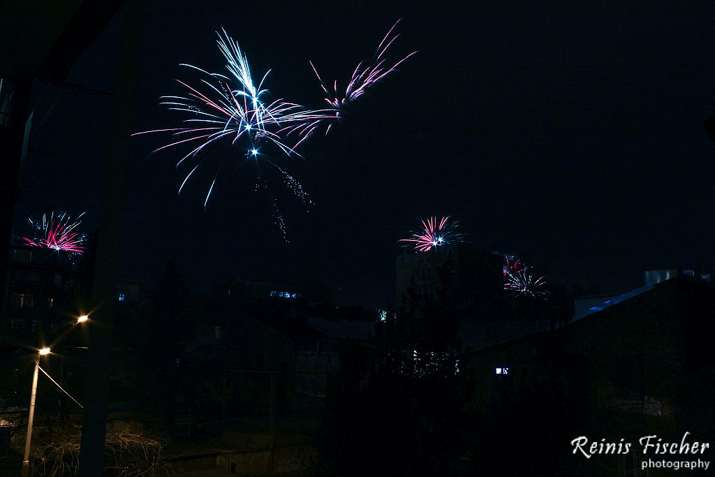 Fireworks in our Tbilisi apartments backyard