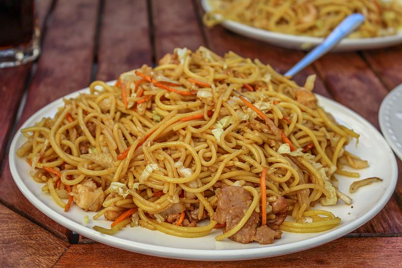 Noodles and shredded beef