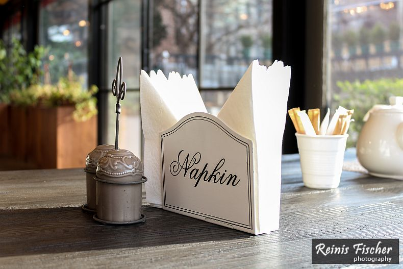 Napkin holder - cliche, but sweet
