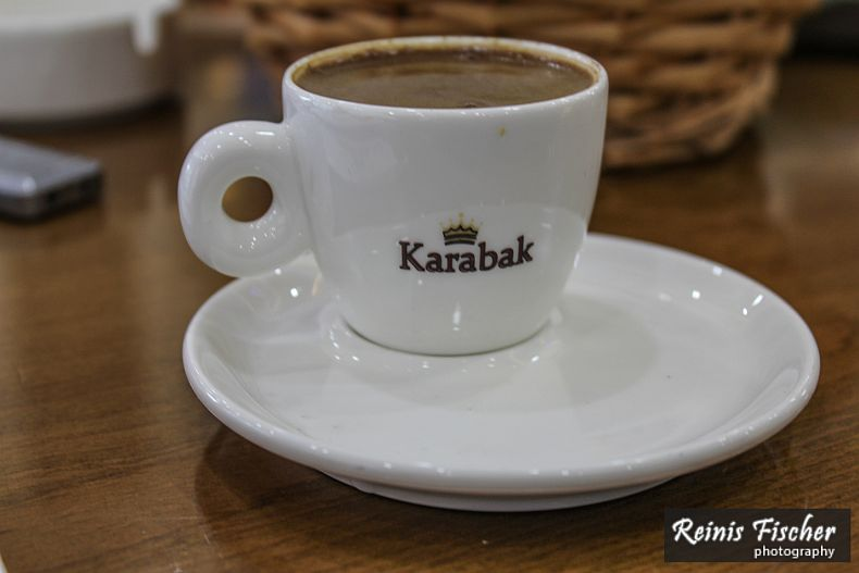 Just an excellent Turkish coffee served from branded cups