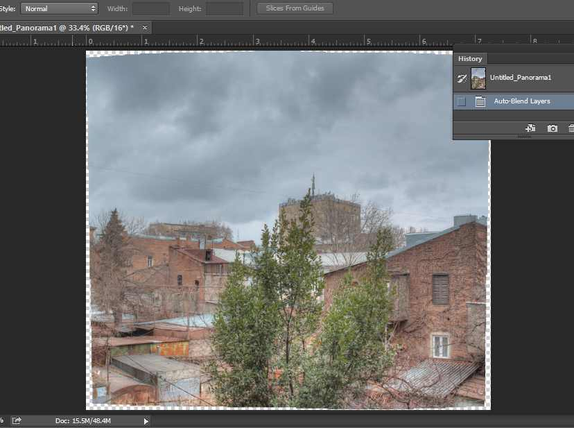 HDR panorama in Adobe PS