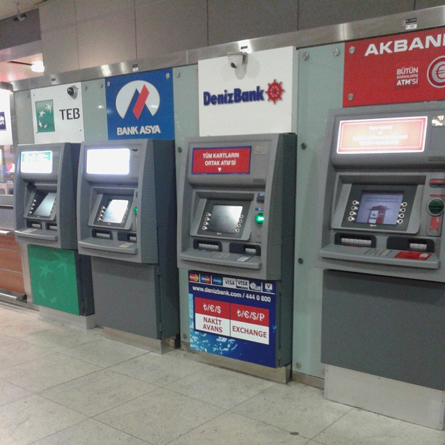 A plenty of ATM's at Sabiha Gocken airport