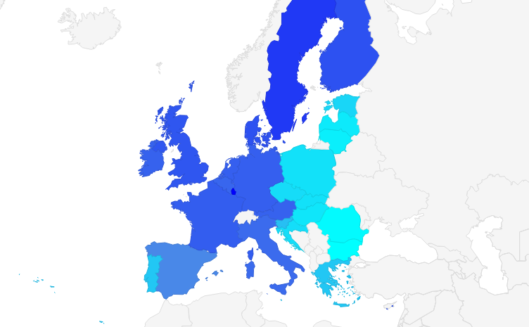 Average salary in European Union