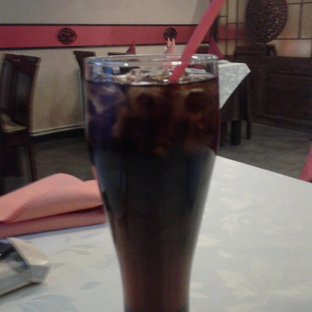 Glass of Coke at Oriental Pearl restaurant