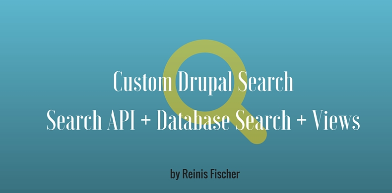 Custom Drupal Search Built with Search API + Database Search