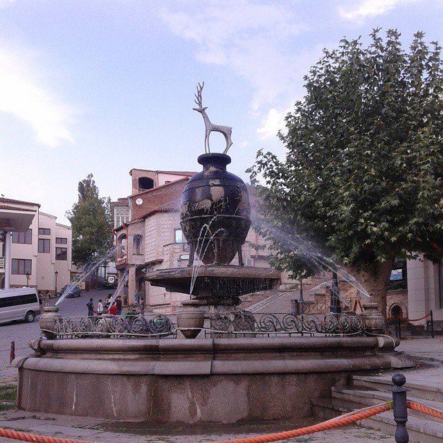 Fountain at Sighnaghi city centre