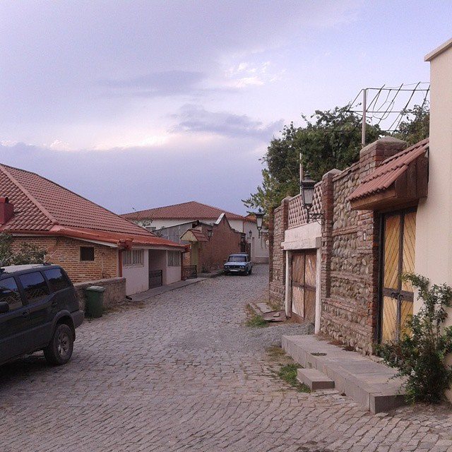 Renovated streets of Sighnaghi