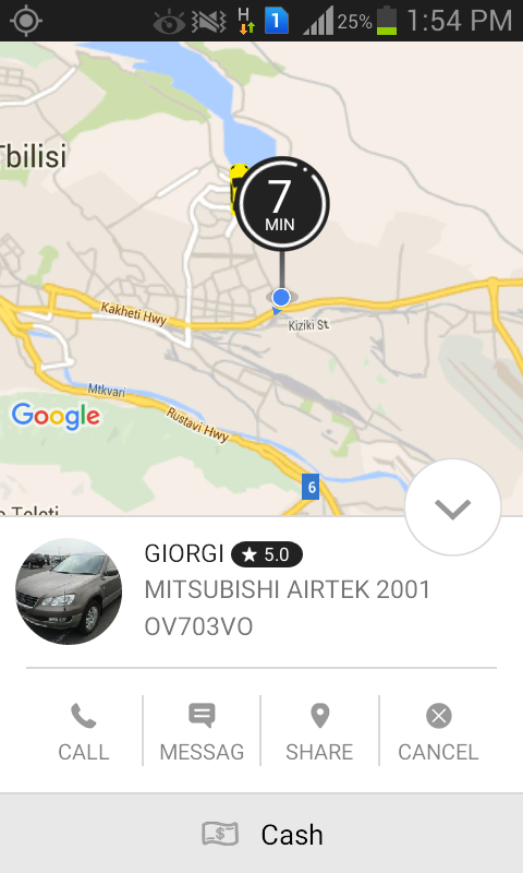 Taxify real-time tracking app