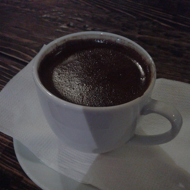 A cup of Turkish Coffee at Restaurant 11 Katkha