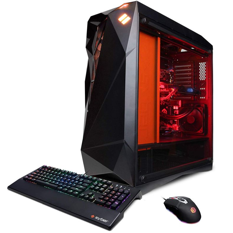 CYBERPOWERPC Syber Forti SFG9EX Gaming PC (Intel Core i9-9900K, 32GB DDR4, NVIDIA GeForce RTX 2080 Ti 11GB, 1TB SSD, 3TB HDD, WiFi & Win 10) Black