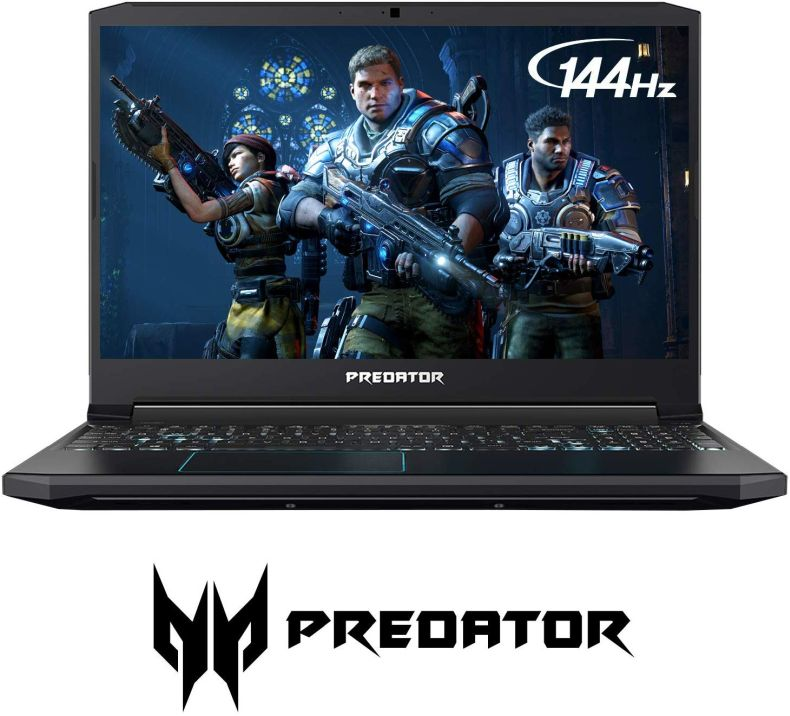 "Acer Predator Helios 300 Gaming Laptop PC, 15.6"" Full HD 144Hz 3ms IPS Display, Intel i7-9750H, GTX 1660 Ti 6GB, 16GB DDR4, 256GB PCIe NVMe SSD, Backlit Keyboard, PH315-52-78VL"