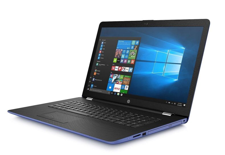 "Flagship HP 17.3"" HD+ SVA BrightView WLED-Backlit Laptop - Intel Dual-Core i3-7100U 2.4GHz, 8GB DDR4, 2TB HDD, DVDRW, Backlit Keyboard, 802.11ac, Bluetooth, HDMI, Webcam, USB 3.1, Win 10 - Blue"
