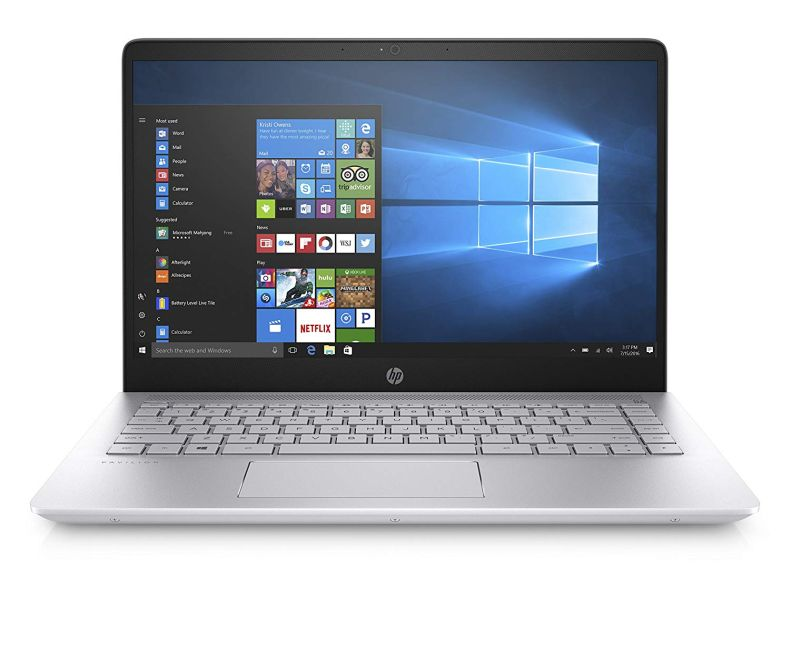 HP Pavilion 14'' HD WLED-Backlit HD (1366x768) Display Laptop, Intel Core i3-6100U, 8GB RAM, 1TB HDD, Backlit Keyboard, 802.11AC, Bluetooth, B&O Play, Up to 8.5 Hours Battery Life, Windows 10