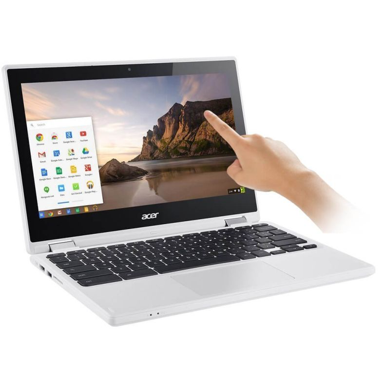 "Newest Acer Premium R11 11.6"" Convertible 2-in-1 HD IPS Touchscreen Chromebook - Intel Quad-Core Celeron N3160 1.6GHz, 4GB RAM, 32GB eMMC, Bluetooth, HD Webcam, HDMI, USB 3.0, Chrome OS - White"