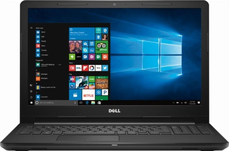Newest Premium Dell Inspiron 15.6-inch HD Display Laptop PC, 7th Gen AMD A6-9220 2.5GHz Processor, 4GB DDR4, 500GB HDD, WiFi, HDMI, Webcam, MaxxAudio, Bluetooth, DVD-RW, Windows 10-Black