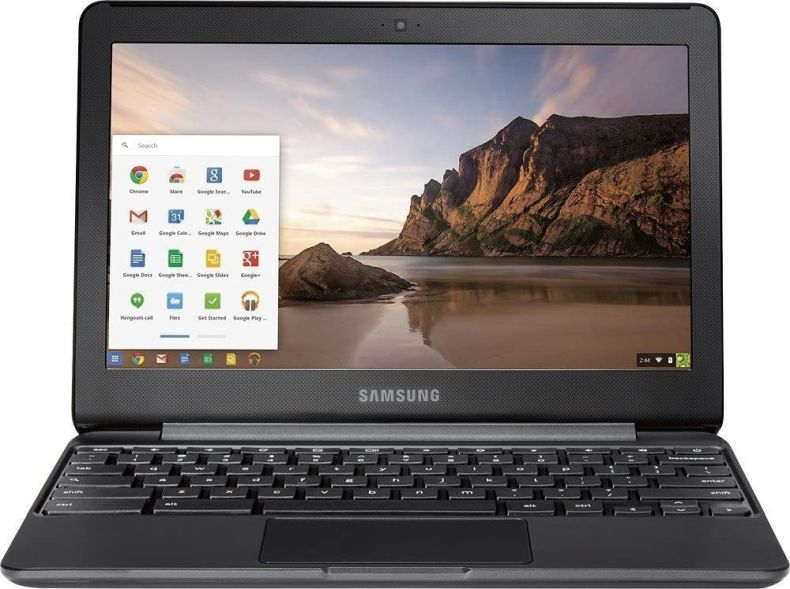 "Samsung 11.6"" Chromebook with Intel N3060 up to 2.48GHz, 4GB Memory, 16GB eMMC Flash Memory, Bluetooth 4.0, USB 3.0, HDMI, Webcam, Chrome Operating System"