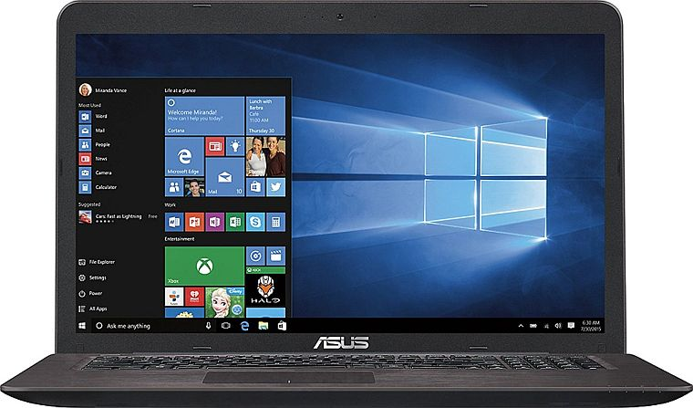 "2017 ASUS 17.3"" FHD WLED-backlit Laptop PC, Intel i5-6200U Processor up to 2.8GHz, 12GB DDR4, 1TB HDD, NVIDIA GeForce GTX 950M, DVDRW, Webcam, WiFi, Bluetooth, HDMI, USB 3.0, Windows 10"