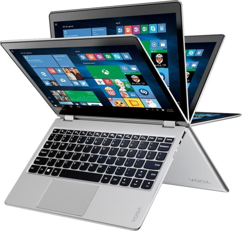 "2018 Newest Flagship 360°Convertible Lenovo Yoga 710 2-in-1 Laptop, 11.6"" FHD IPS Touchscreen Display, Intel Pentium Dual Core Processor, 4GB RAM, 128GB SSD, HD Graphics 615, Windows 10 (Silver)"