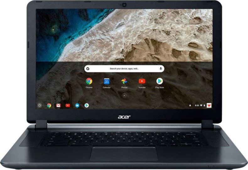 "Flagship Acer Premium 15.6"" HD ComfyView Chromebook - Intel Dual-Core Celeron N3060 1.6GHz, 4GB DDR3, 16GB SSD, 802.11ac, Bluetooth, Webcam, HDMI, SD Card Reader, USB 3.0, Chrome OS"