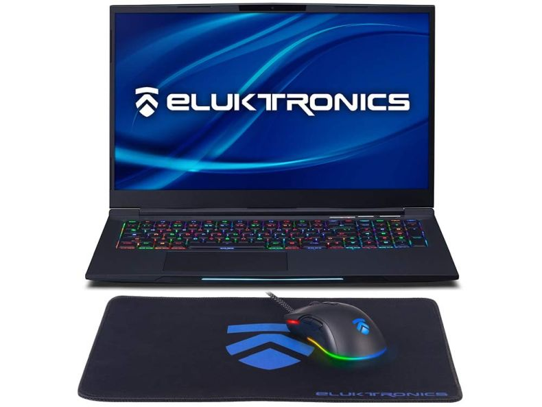 "Eluktronics MECH-17 G1Rx Slim & Light NVIDIA GeForce RTX 2060 Gaming Laptop with Mechanical RGB Keyboard - Intel i7-9750H CPU 6GB GDDR6 VR Ready GPU 17.3"" 144Hz Full HD IPS 512GB NVMe SSD + 16GB RAM"